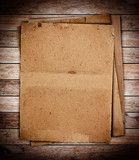 Fototapety stack of old papers on wood textures background