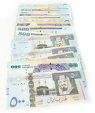 Five hundred Saudi riyals line