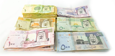 Packages paper currency of Saudi Arabia