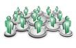 social network (green/silver version)