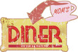 Vintage diner sign, vector illustration, scalable to any size
