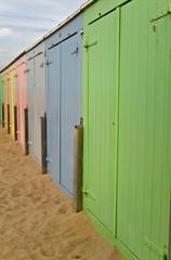 Badehäuschen am Strand