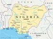 Nigeria map (Nigeria Landkarte)