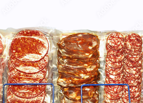 packed sausages