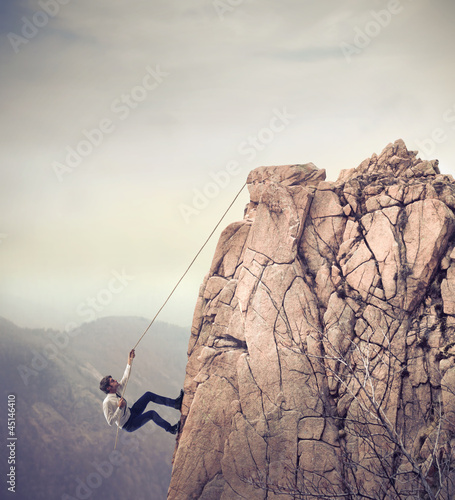 Businessman Climbing