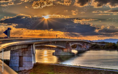 Fototapeten,motorway,brücke,rhein,fluß