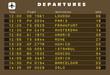 Departures board vector - Europe destinations