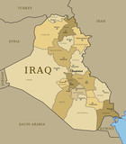 Iraq map with provinces