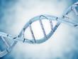 Digital illustration of a Broken DNA on blue background