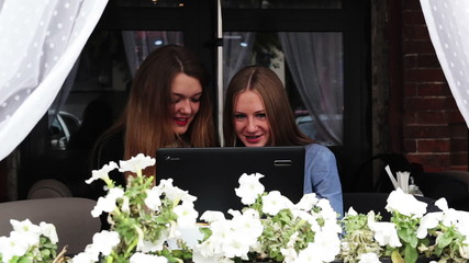 girls with a laptop