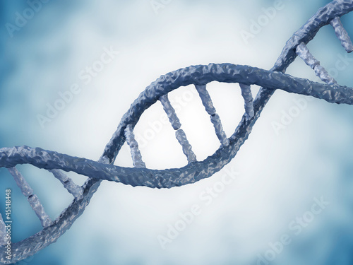 Digital illustration of a DNA on blue background