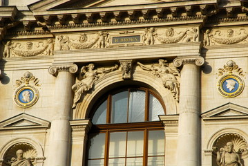 Detail of the Burgtheater, Vienna