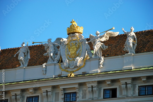 Statues on the Hofburg Palace, Vienna