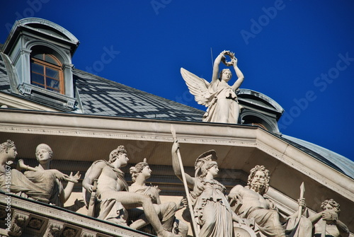 Detail of the Vienna university building, Austria