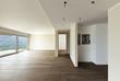 modern interior, empty apartment,, parquet floor