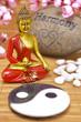 Buddha mit Yin und Yang