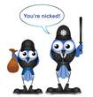 bird policeman making an arrest