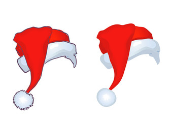 Two Santa hat