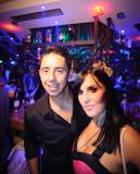 Couple in night bar
