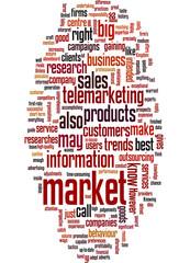 Tele marketing concept