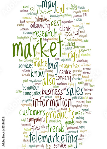 Tele marketing concept
