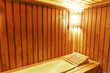 Wood cozy sauna room