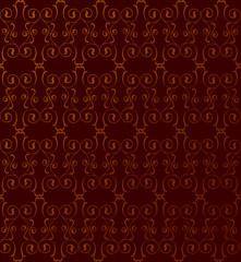 seamless pattern. lightning ornament on brown background