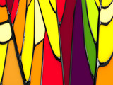 abstract stained-glass window background