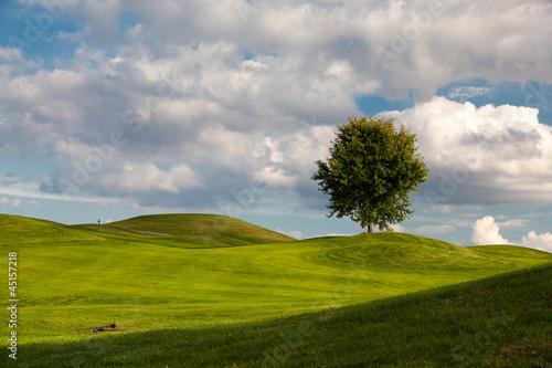 On the golf course in Prague, Czech Republic