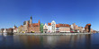 Panoramic view of City of Gdansk (Danzig), Poland
