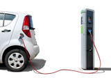 E-Car Seitenansicht isoliert