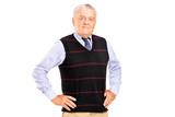 A mature male posing