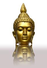 Buddha's head  image in Thailand