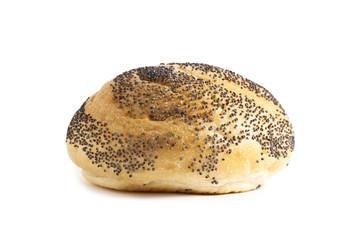 fresh bun with black sesame seeds