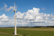 Dutch windturbine in rural landscape of Flevoland