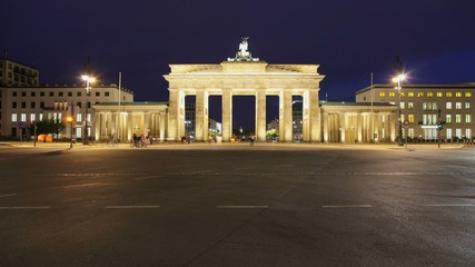 Brandenburger Tor Timelapse with Traffic in 1080p HD