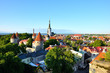 Red roofs and church of old Tallinn