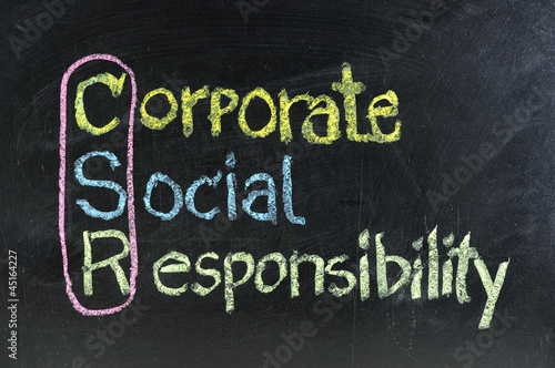 hand writing corporate social responsibility ( CSR )