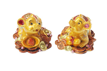 Chinese New Year Ornaments Golden Rats