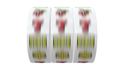 Slot Machines isolated on white background