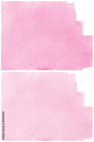 Set Of pink Abstract watercolor background