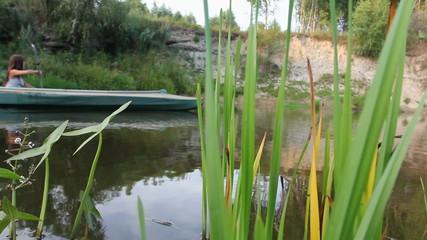 kayak, river, girl