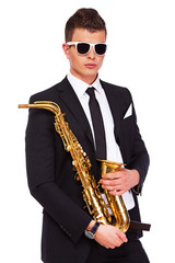 A stylish young musician