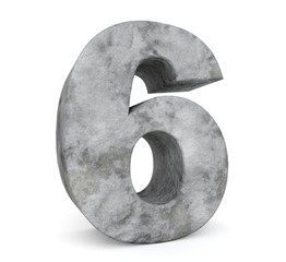 stone number collection - number 6