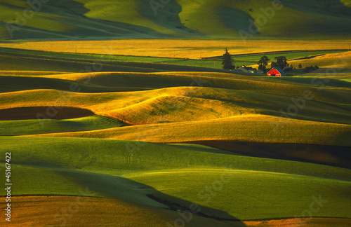 Palouse Hills and Red Barn