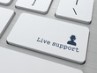 "Button on Keyboard: ""Live Support"""