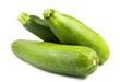 Three green zucchini