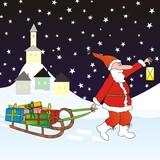 Santa carrying gifts
