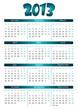 simple editable vector calendar 2013