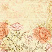 Grungy rétro avec des roses